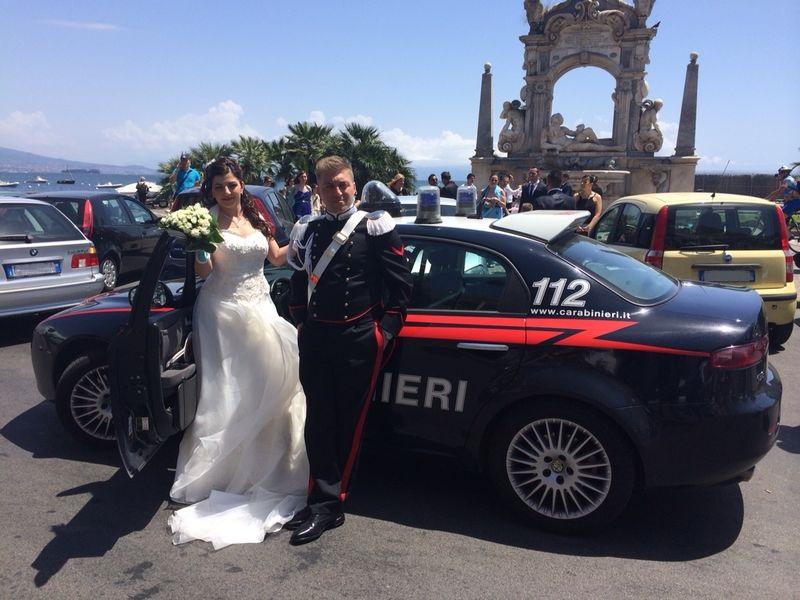 auto-sposi-Napoli_auto-carabinieri_auto-matrimonio-Napoli