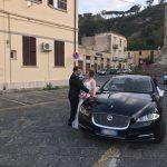 Auto-sposi-Napoli_matrimonio-XJ-Blu_noleggio-auto-sposi-Napoli