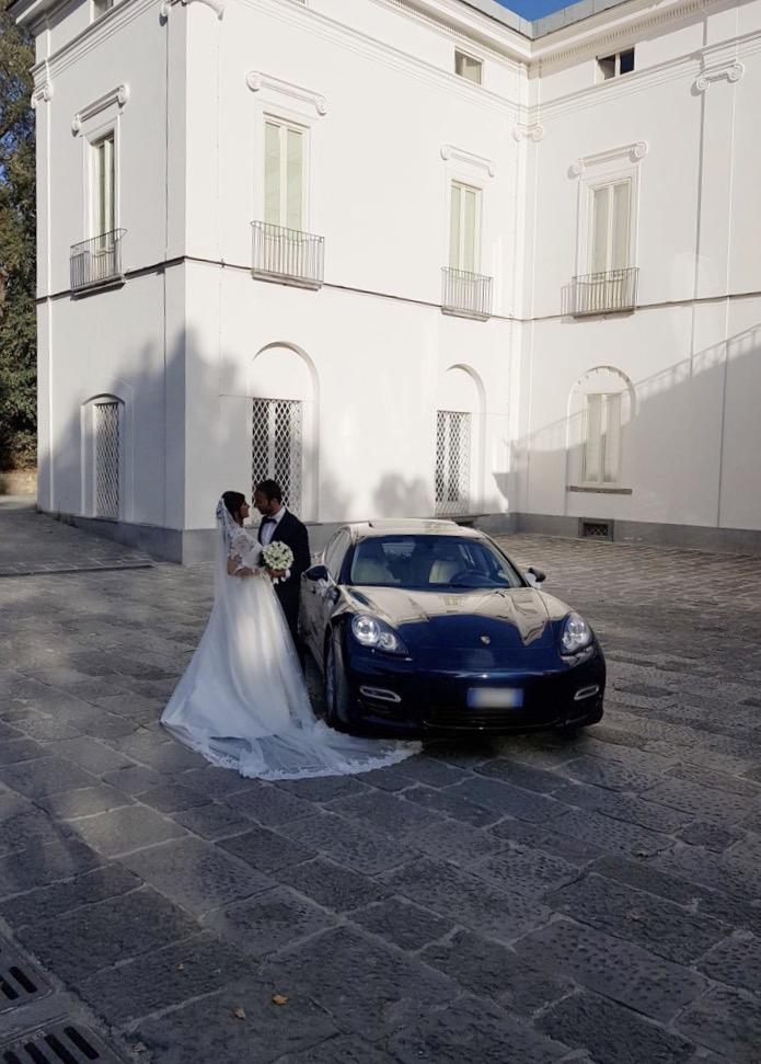 auto sposi Napoli | Porsche Panamera | auto matrimonio