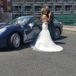 auto sposi Napoli | Panamera blu | auto nozze
