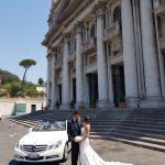auto sposi Napoli | Mercedes Cabrio | auto nozze