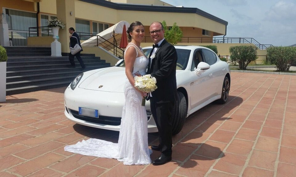 auto sposi Napoli | Porsche bianca | auto matrimoni