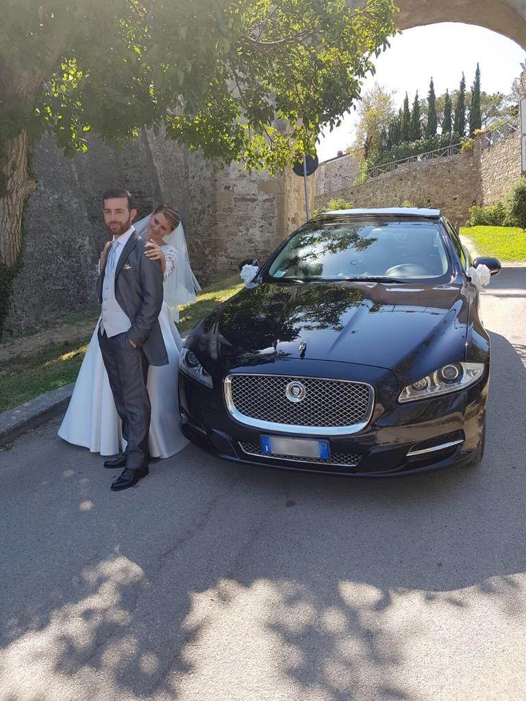 auto sposi Napoli - Jaguar XJ - auto cerimonie