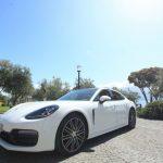 auto sposi Napoli | New Panamera bianca | auto matrimoni