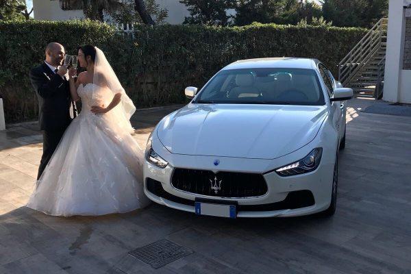 auto sposi Napoli | Maserati Ghibli | auto matrimonio Napoli