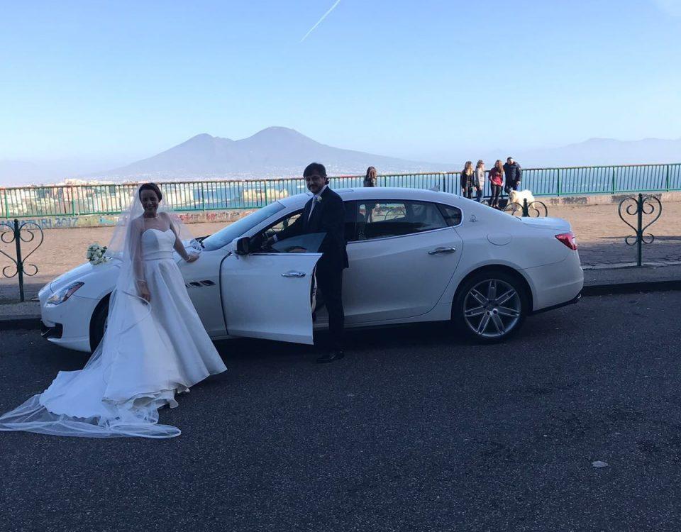 Auto sposi Napoli | Maserati Quattroporte | auto per cerimonie Campania