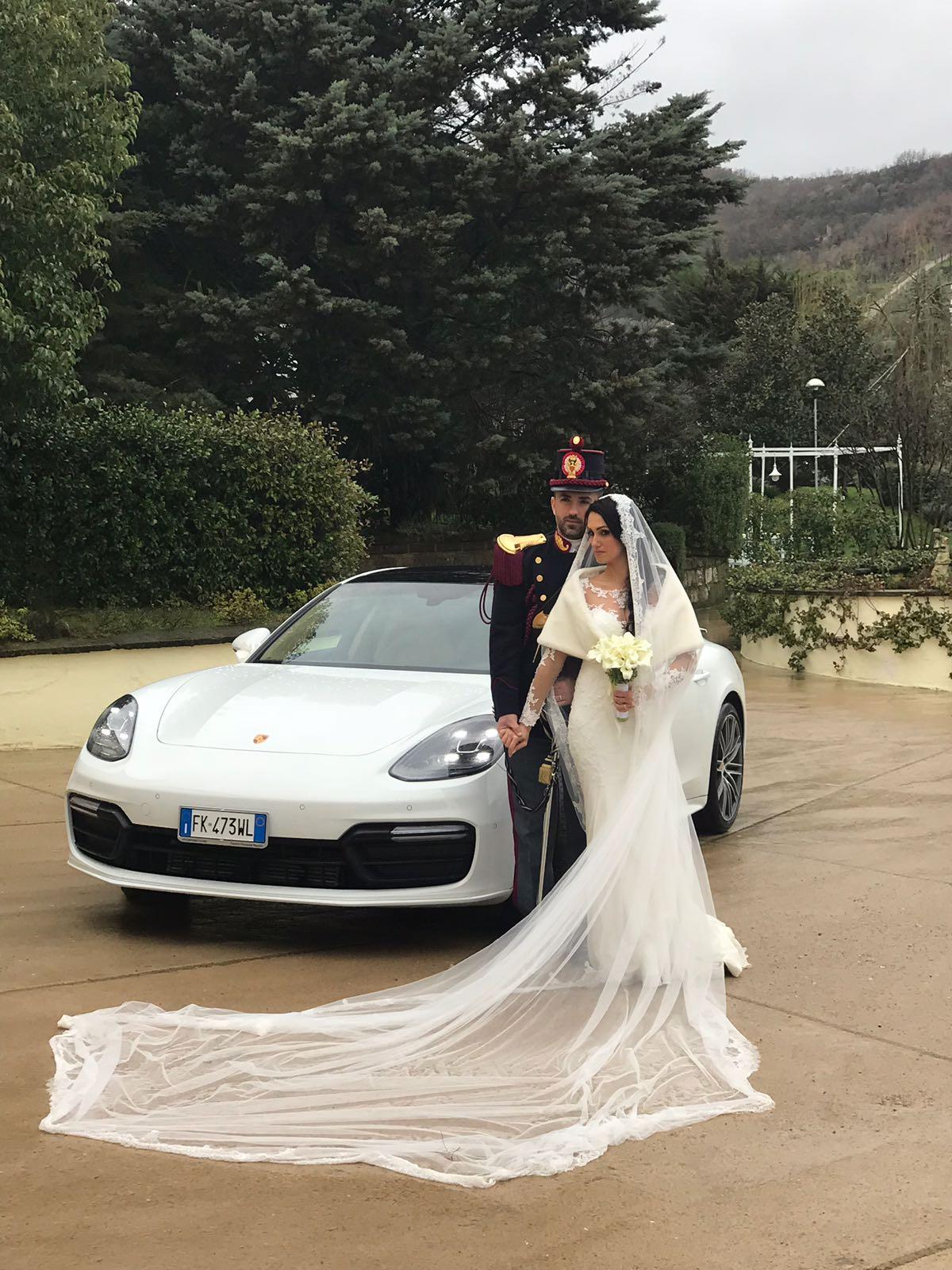 auto sposi Napoli | Porsche Panamera | noleggio auto matrimonio Napoli